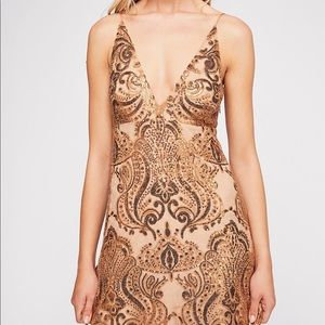 FREE PEOPLE - Night Shimmers Mini Dress